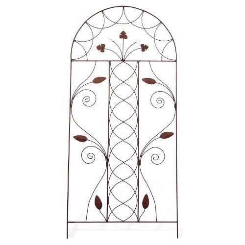 Deer Park TR203 Steel Braided Leaf Trellis by Deer Park Ironworks. $99.99. Protected with a baked on, powder coated finish. Measures 36-inch width by 79-inch height. The natural patina appearance nicely complements any decor or color scheme. Features durable, heavy gauge steel construction. Its lightweight and versatile design, installation and mobility is easy. This all deer park products feature durable, heavy gauge steel construction and are protected with a baked-on...