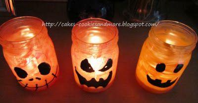 Basteln mit Kindern - Halloween Windlichter