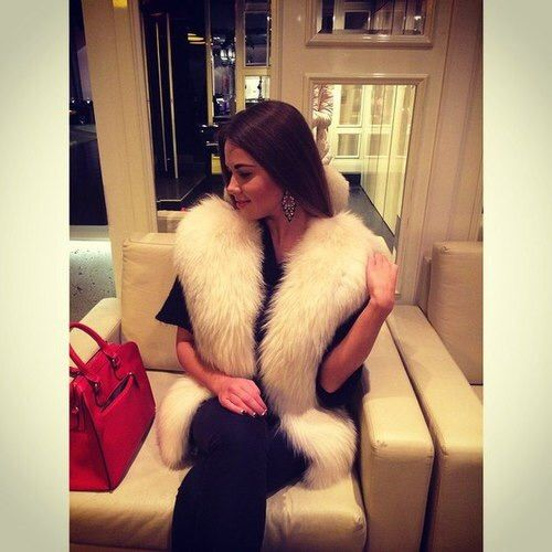 Image via We Heart It #fashion #fur #money