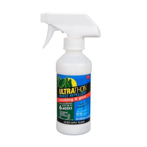 3M Ultrathon Insect Repellent Clothing and Gear, 8-Ounce Spray ( SRCG-12) by 3M. $8.09. 3M Ultrathon insect repellent was developed for the military to provide long lasting, time released protection against mosquitoes for up to 8 hours for the Aerosol product.  Repels Ticks that may carry West Nile Virus and also mosquitoes, biting flies, chiggers, gnats, fleas and deer flies.  Splash & Sweat Resistant.  Unique 3M Polymer Technologh optimized to enhance the eff...