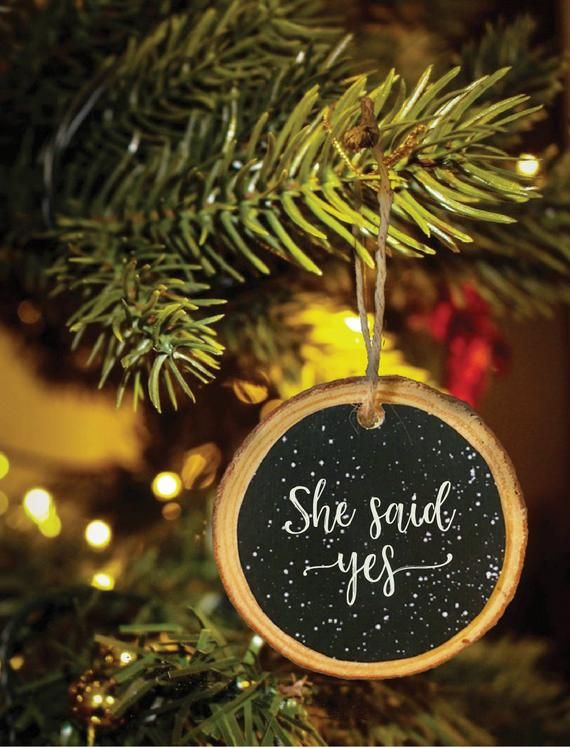 Personalized Engagement Ornament Christmas Ornament Gift For Etsy Christmas Ornaments Gifts First Christmas Ornament Baby First Christmas Ornament