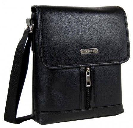 Větší černá pánská crossbody taška F901 - Kliknutím zobrazíte detail obrázku.