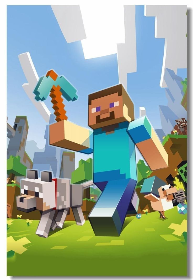 Minecraft Poster Minecraft Minecraft Poster Poster En 2020
