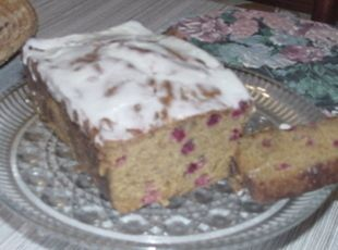 Pumpkin cranberry bread with orange glaze   ~ 3 of my favorite flavors in this one..  have to bake it!