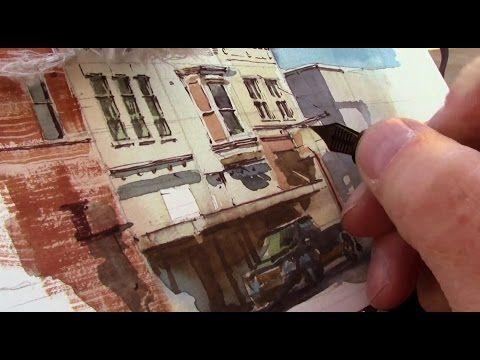Painting Buildings in Watercolour - Elegant Buildings (Part 1) - YouTube