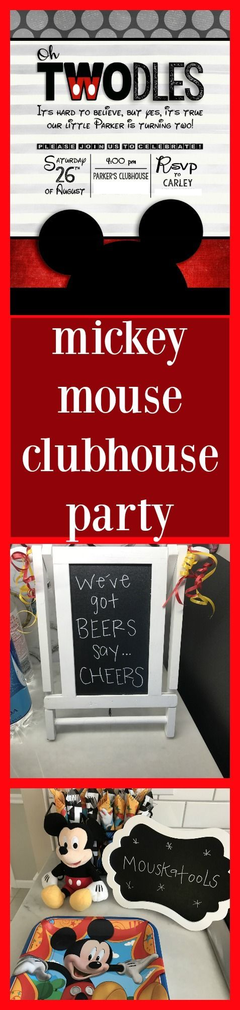 mickey mouse clubhouse party, second birthday party