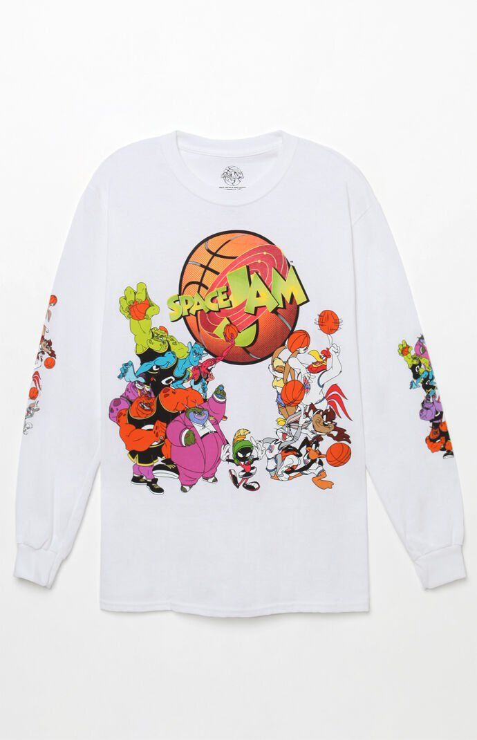 Space Jam Jump Ball Long Sleeve T Shirt Tee Shirt Outfit Cartoon Shirts Space Jam Outfit
