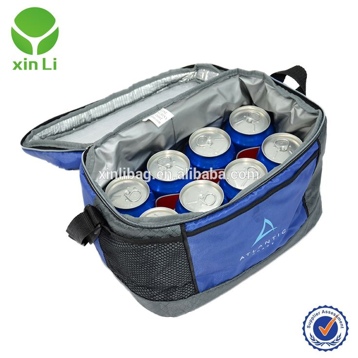 8 can soft cooler blue with long handle and hard liner oem/odm