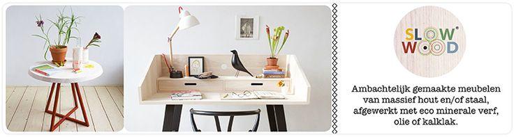 SlowWood tables Handcrafted tables of solid wood and/or steel finished with mineral paint, oil or laquer. Ambachtelijk gemaakte tafels van massief hout en/of staal afgewerkt met minerale verf, olie of kalklak.