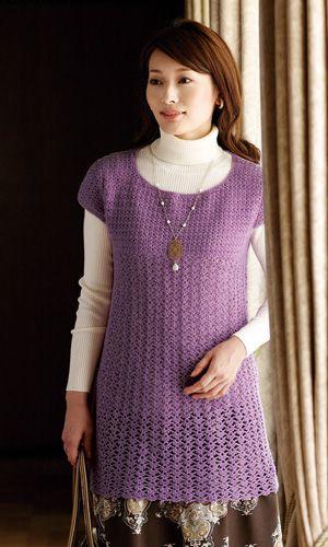 Crochet dress - free Japanese diagram pattern
