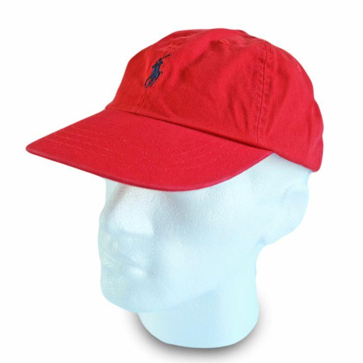 Polo Ralph Lauren Baseball Cap Hat Red Navy Pony Men