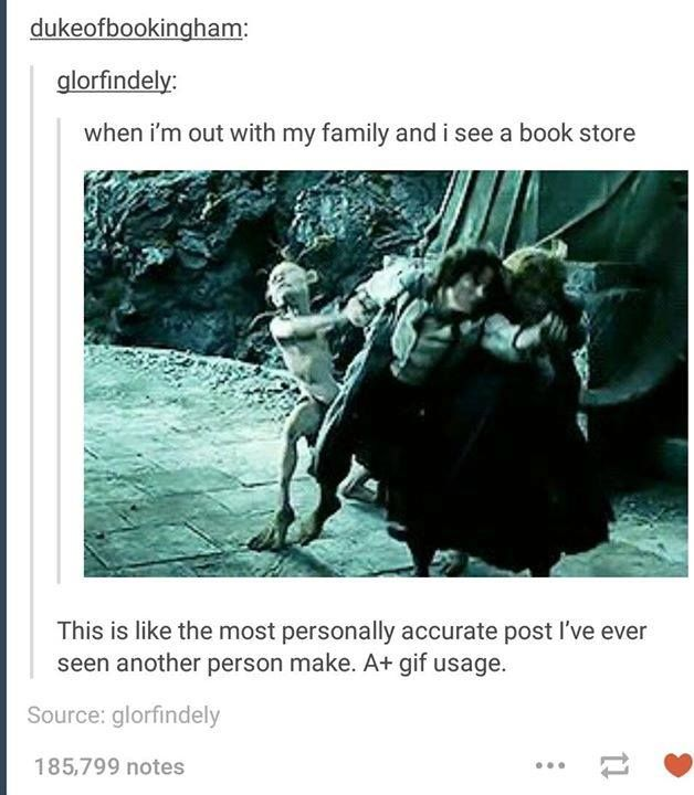 When I see a bookstore...
