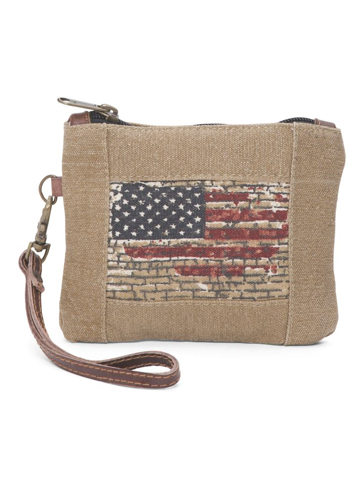 Up Cycled Small Flag Pouch