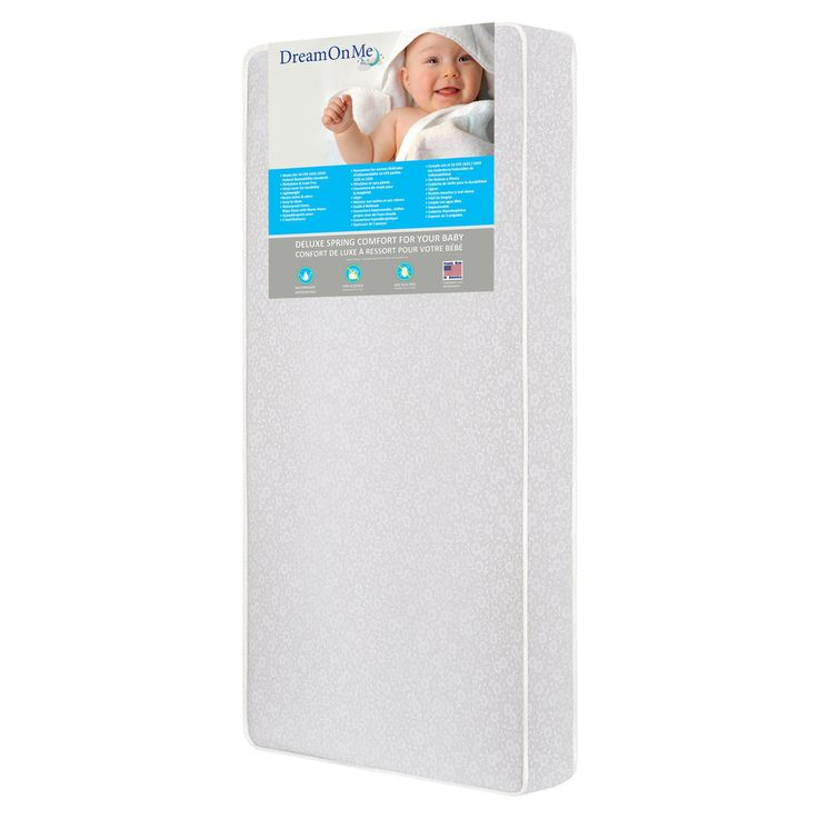 Dream On Me Little Baby 6 in. Full Size Firm Foam Crib and Toddler Bed Mattress - 6E6GL