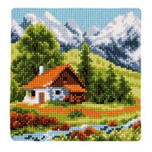 Набор для вышивания Подушки Vervaco Альпы-2. PN-0009175