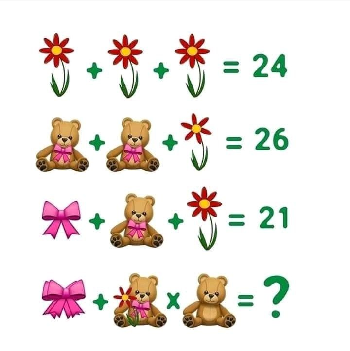 Flower Teddy Bear Ribbon Puzzle In 2020 Math Pictures Maths