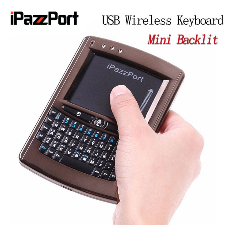 Ipazzport 05V USB 2.4Ghz Mini Wireless Keyboard Gaming Keyboard Air Mouse Keyboard Touchpad Keyboard For TV Box,PC,Laptop,Tablet #Affiliate