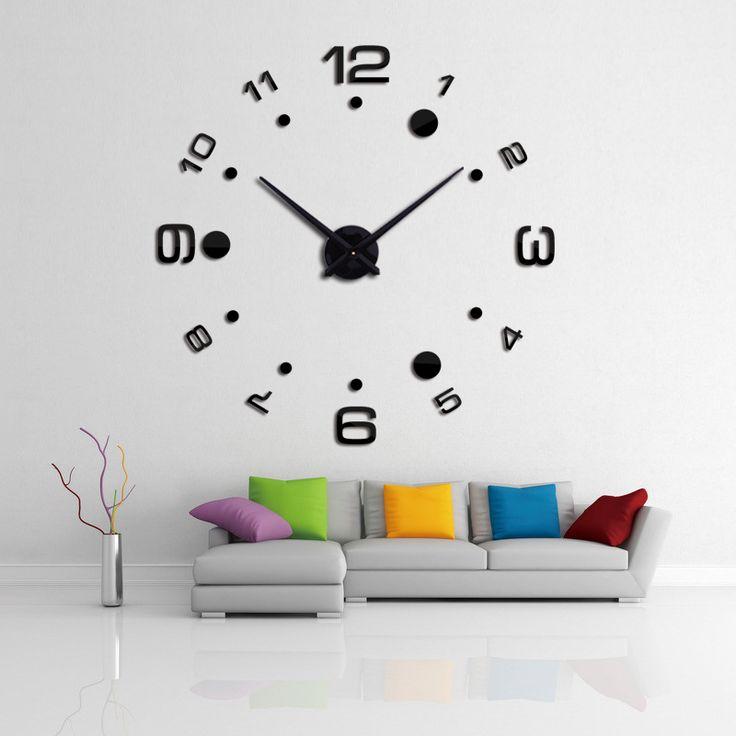 2016 relógios de pulso de parede novo relógio diy relógio de quartzo quartzo relógio Europa sala de estar grande decorativo horloge murale relógios adesivos