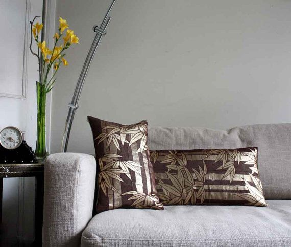 Golden Bamboo Set of Two Throw Pillows / Cushion by ProjectSarafan, €119.00