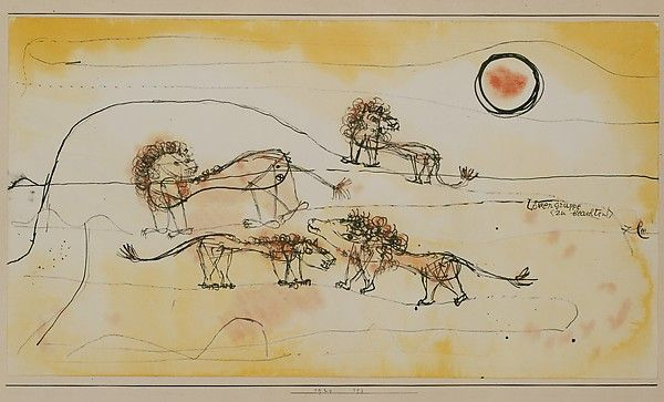 Paul Klee 1924 A Pride of Lions (Take Note!)