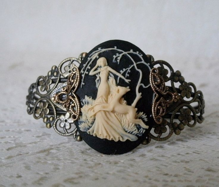 Goddess Diana Cuff Bracelet, wiccan jewelry pagan jewelry wicca jewelry goddess jewelry witch gypsy new age witchcraft magic metaphysical by Sheekydoodle on Etsy https://www.etsy.com/listing/202017232/goddess-diana-cuff-bracelet-wiccan