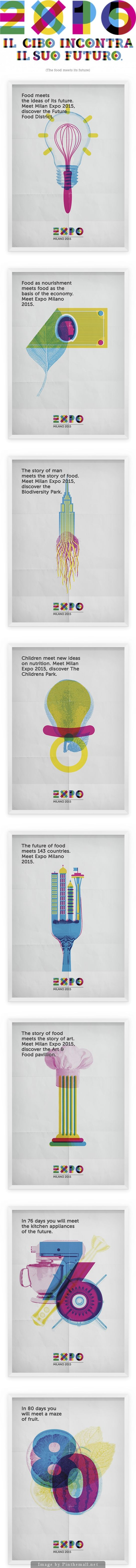 Expo Milano 2015 by Luca Frank Guarini, via Behance..