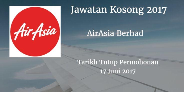Jawatan Kosong AirAsia Berhad 17 Juni 2017  AirAsia Berhad mencari calon-calon yang sesuai untuk mengisi kekosongan jawatan AirAsia Berhad terkini 2017.  Jawatan Kosong AirAsia Berhad 17 Juni 2017  Warganegara Malaysia yang berminat bekerja di AirAsia Berhad dan berkelayakan dipelawa untuk memohon sekarang juga. Jawatan Kosong AirAsia Berhad Terkini Juni 2017 CABIN CREW TARIKH : 17 JUN 2017 MASA  : 8.30AM TO 10.30 AM TEMPAT : Asian Aviation Centre of Excellence S/B    Lot PT25B Jalan…