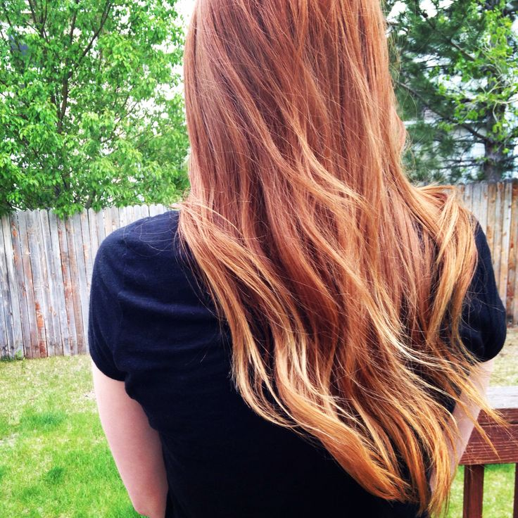 Red ombré #redhair #myginger #ombre #sombre Definitely want to try the ombre trend but love this because I'm not a fan of the red to blonde transition. I'd much rather do SOMBRE dark to light red!
