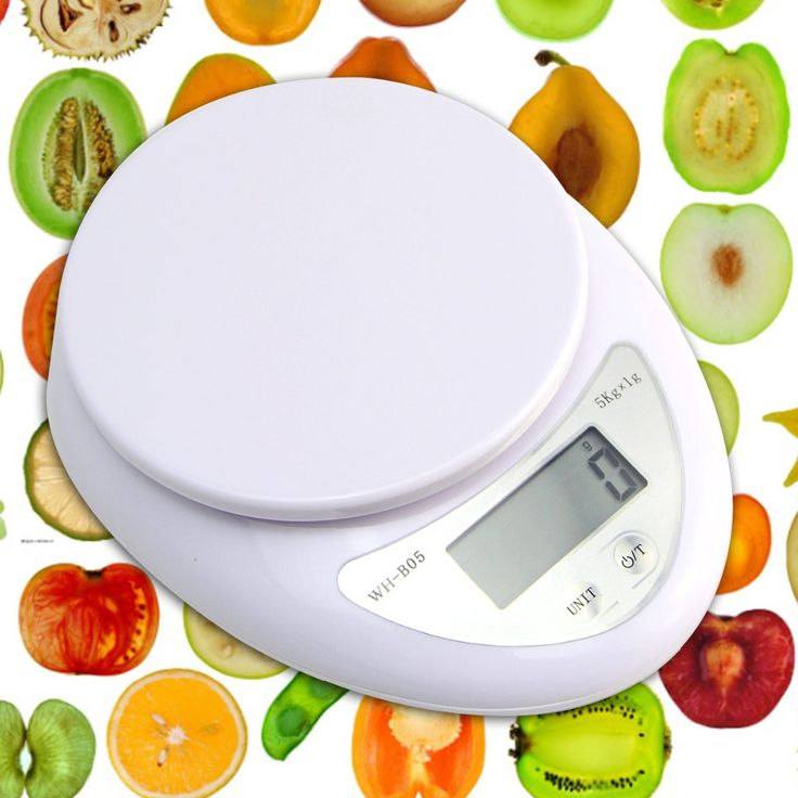 5KG/1g Kitchen Digital LCD Electronic Balance Scales Digital Plastic Solid White Kitchen Weight Oval Shape Scales Cooking Tools