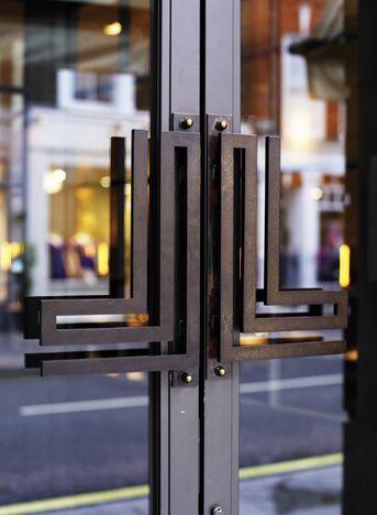 door handles, Cafe Luc, London
