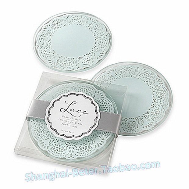 Kate AspenR Lace Exquisite Frosted Glass Coasters In Powder Blue Set Of Find This Pin And More On TAOBAO Wedding Favors
