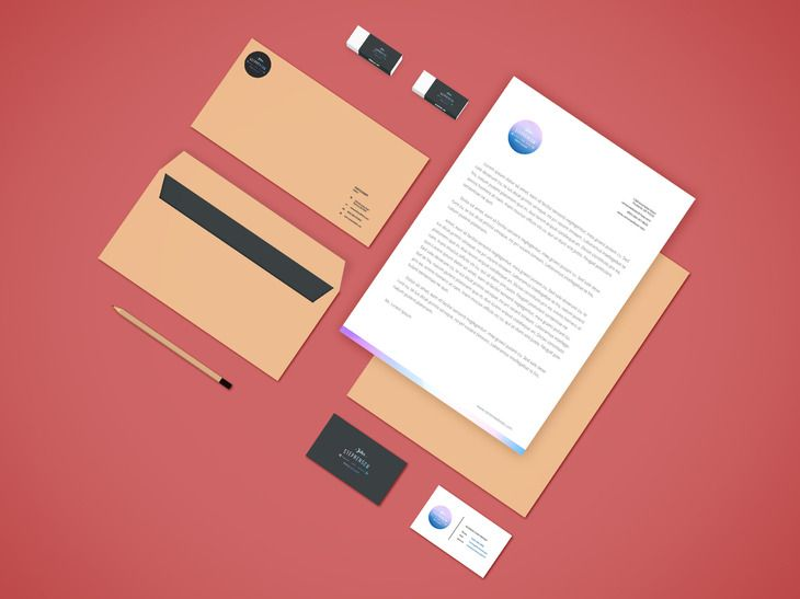 this branding psd mockup is great to showcase your stationery design all elements are separated with smart layers for easy replacing your design