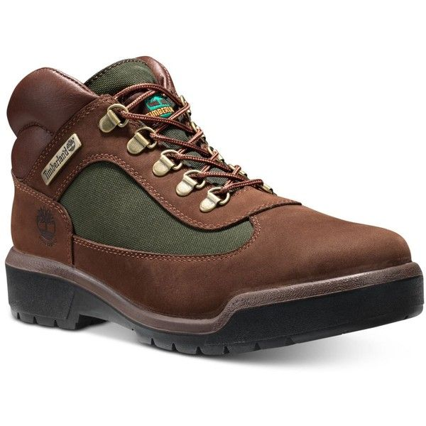 Timberland Men's Waterproof Field Boots ($160) ❤ liked on Polyvore featuring men's fashion, men's shoes, men's boots, men's work boots, dark brown, mens water proof boots, mens dark brown boots, timberland mens boots, mens waterproof work boots and mens waterproof boots