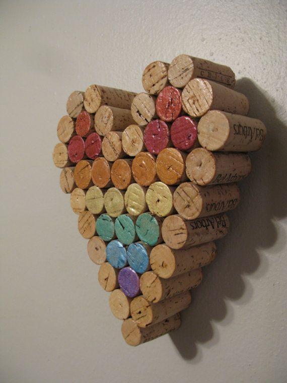 25 best ideas about cork heart on pinterest wine cork for Cork art ideas