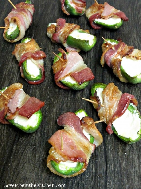 Bacon Jalapeno Poppers- A simple 3-ingredient appetizer that is sure to be a crowd pleaser!  #appetizer #superbowl