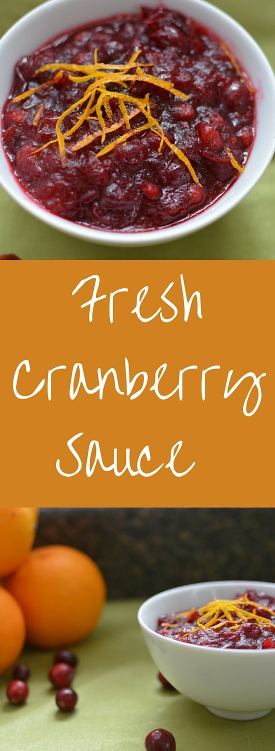 This homemade fresh cranberry sauce recipe with orange zest will bring your holiday meal up a notch in just minutes. Don't serve cranberry sauce out of a can when you can prepare this fresh cranberry sauce recipe in just minutes.