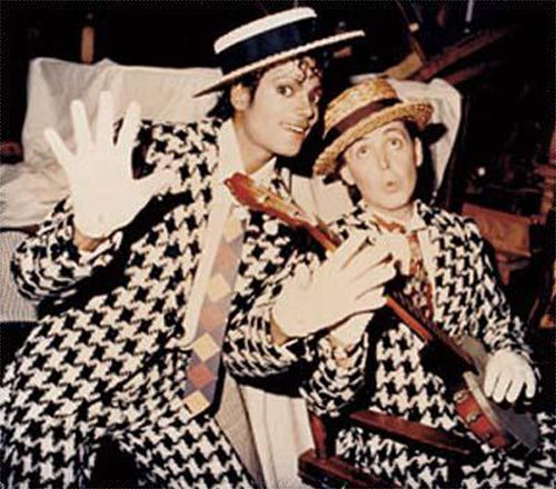 "Linda McCartney, Michael Jackson and Paul McCartney, short film ""Say Say Say"""