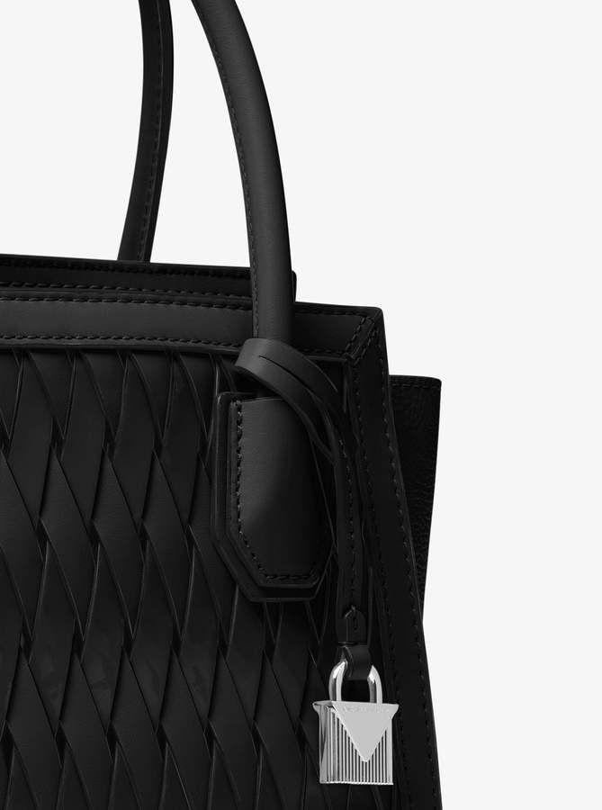 cfe71fe039dd MICHAEL Michael Kors Mercer Studio Woven Leather Crossbody ...