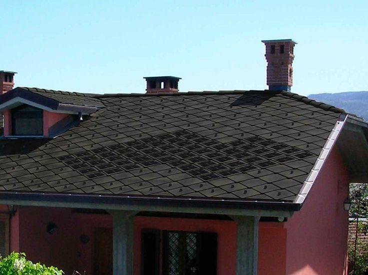 Monocrystalline photovoltaic roof tiles ARDOSOLAR 40x40 by ARDESIE CERAMICHE