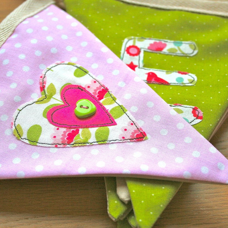 Heart Handmade Personalised Bunting