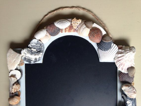 Beach Shell Chalkboard-Rustic Shabby Chic by TheSurfsideStudio