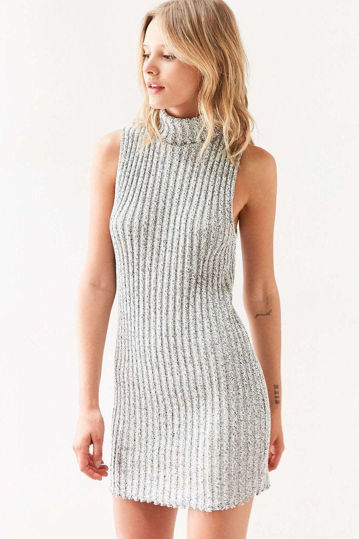Bdg Marly Turtleneck Sweater Mini Dress Urban Outfitters Mini Sweater Dress Knitted Bodycon Dress Urban Dresses [ 1104 x 736 Pixel ]