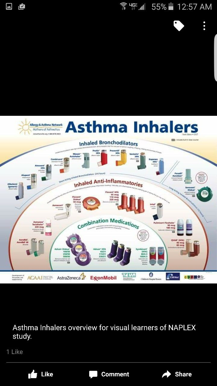 Pin By Krista Dixon On Pharmacy Stuff Asthma Inhaler Visual Learners Inhaler