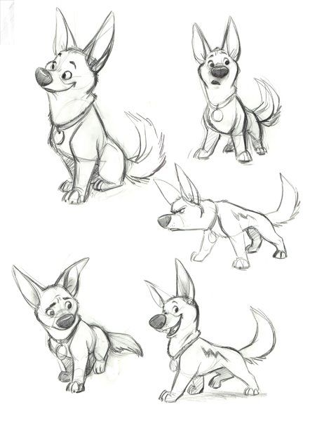 how to draw dog man characters
