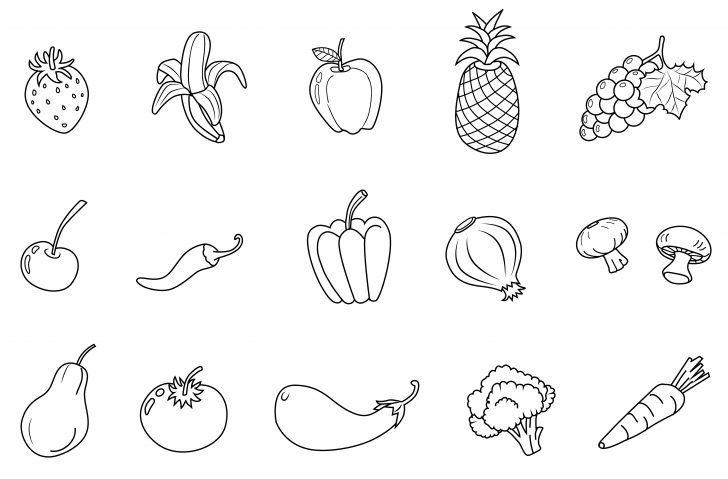 Fruits And Vegetables Coloring Pages Valuable Vegetable Color Pages Proven Coloring Page Of A Cornucopia Albanysinsanity Com Vegetable Coloring Pages Fruit Coloring Pages Fruits And Vegetables Pictures