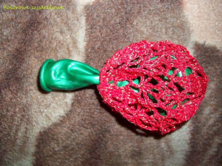 Kolorowe szydełkowe: Nieforemne bombki? Nigdy więcej! :)
