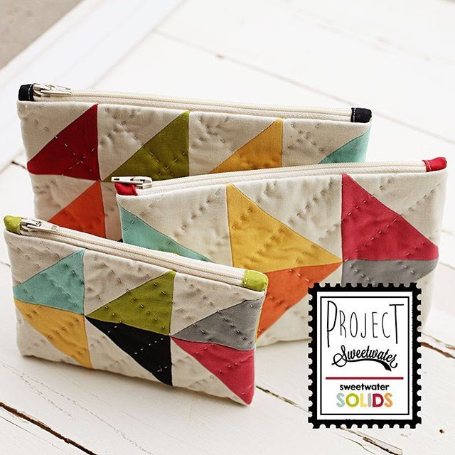 Another peek at a project in our Project Sweetwater-Solids box. I think I'm keeping these little zipper pouches for myself. #projectsweetwater