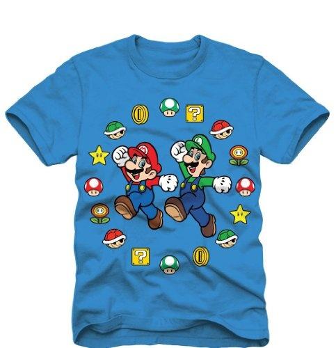 Super Mario Bros Mario And Luigi Pose Boys Childrens T