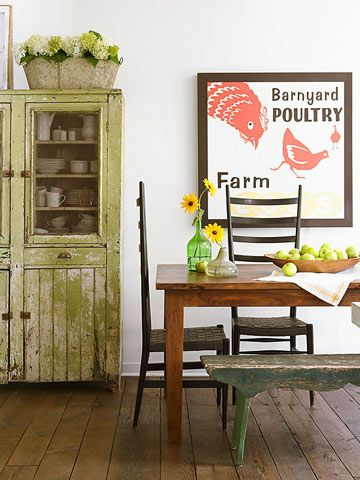 Country Cottage Decorating - Farmhouse Dining Room