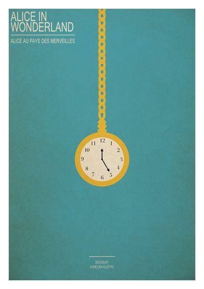 Series of poster: Minimal Disney movies by Aurélien Allétru, via Behance